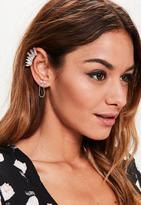 Missguided Gold Chain Ear Cuff Set, Gold