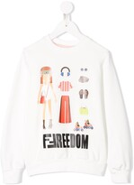Fendi graphic print sweatshirt
