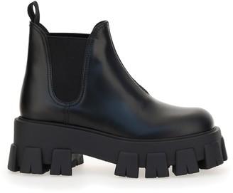 Prada Monolith Chunky Sole Chelsea Boots