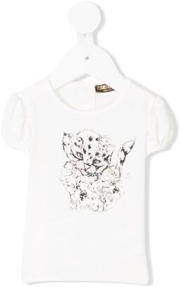 Roberto Cavalli Junior leopard print T-shirt