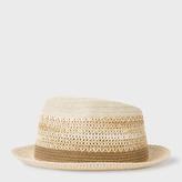 Paul Smith Men's Aran Woven Trilby Hat