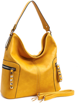 Mustard Side-Zip Hobo
