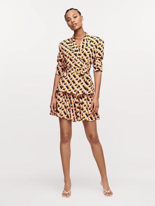 Diane von Furstenberg Jaxon Silk Crepe de Chine Shorts