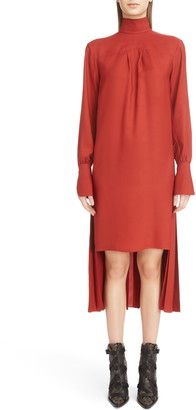 Chloé Step Hem Silk Blend Dress