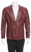 Giorgio Armani Leather Peak-Lapel Blazer w/ Tags