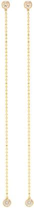 Xiao Wang Elements' diamond 14K gold bead drop earrings