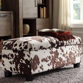 Inspire Q Sauganash Cowhide Print Lift Top Storage Bench by