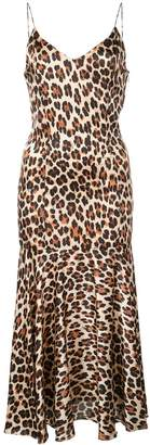 Caroline Constas Leopard Print Slip Dress