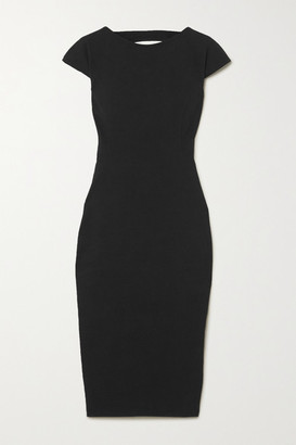 Rick Owens Easy Sarah Open-back Stretch Cotton-blend Crepe Dress - Black