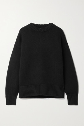 The Row Ophelia Wool And Cashmere-blend Sweater - Black