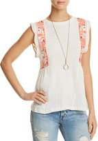 Free People Marcy Embroidered Tank