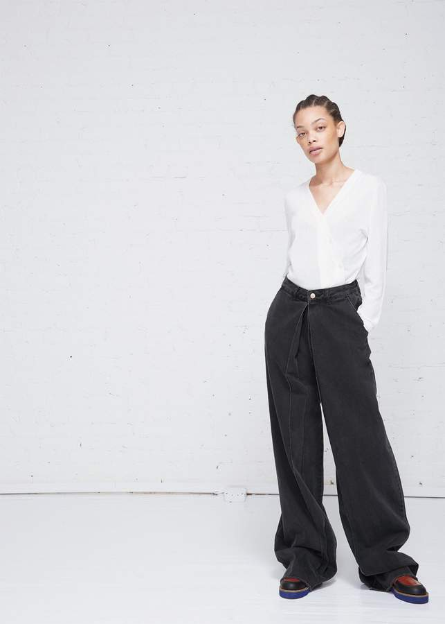Aalto Cropped Pleated Jeans