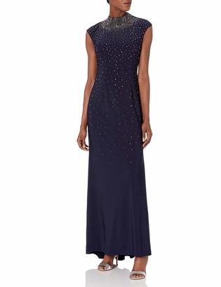 Eliza J Women's Embellished Gown with Mock Neckline
