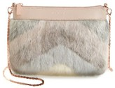 Ted Baker Emmia Faux Fur Crossbody Bag - Beige