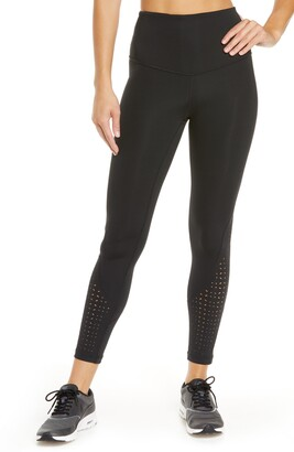 Zella Nova High Waist Perforated Ankle Leggings