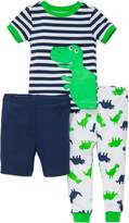 Little Me Boys' 3 Piece Short Sleeve Cotton Pajama