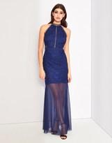 Lipsy Lace Insert Maxi Dress