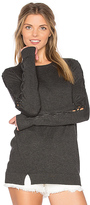 Central Park West Cambridge Lace Up Bell Sleeve Sweater in Gray. - size XS (also in )