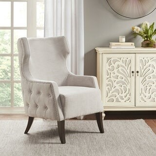 Madison Home USA Emilia Light Taupe Accent Chair