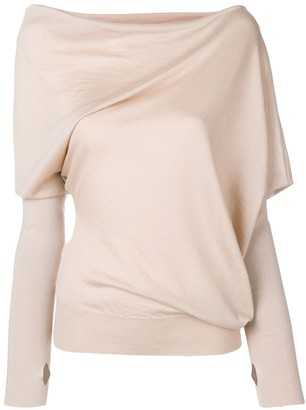 Tom Ford asymmetric knitted blouse