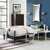 Modway Sharon Azure Fabric Bed with Squared Tapered Legs