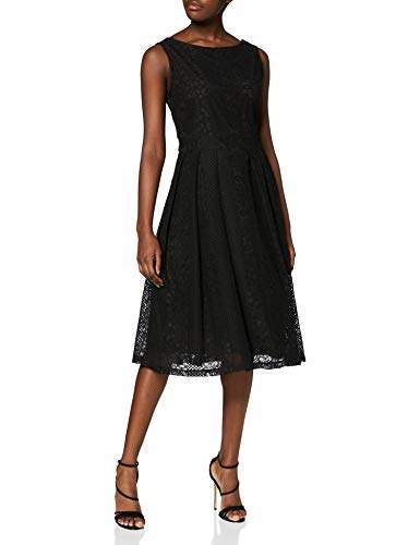 Yumi Fit And Flare Pleated Lace Dress