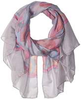 D&Y Women's Lip Printed Oblong Scarf