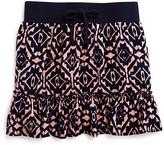 Aqua Girls' Geometric Print Skirt - Sizes S-XL