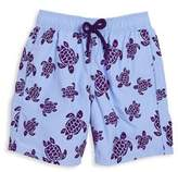 Vilebrequin Little Boy's & Boy's Flocked Turtles Swim Trunks