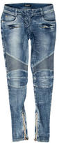 Balmain Skinny-Leg Moto Jeans