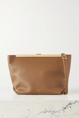 KHAITE Envelope Pleat Leather Clutch - Tan