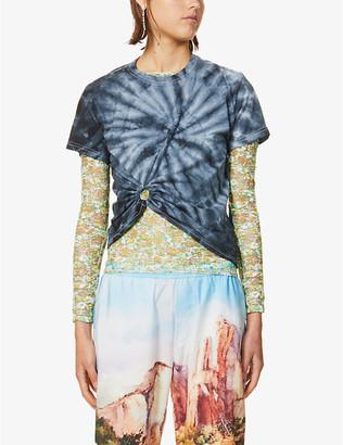 Collina Strada Ring-detail tie-dye cotton-jersey T-shirt