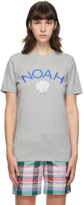 Noah NYC Grey adidas Edition Shell Logo T-Shirt