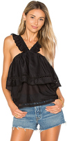 Ella Moss Brigitte Ruffle Tank in Black. - size L (also in M,S)