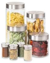 Oggi OggiTM 8-Piece Round Glass Canister Set with Spice Jars