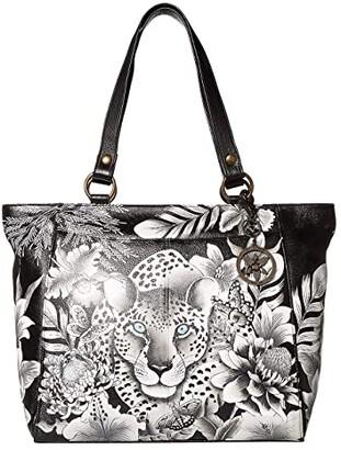 Anuschka Large Shoulder Tote - 664 (Cleopatra's Leopard) Bags
