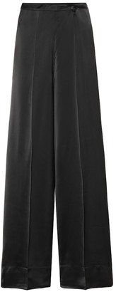 Jil Sander High-rise wide-leg satin pants
