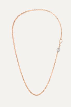 Pomellato Sabbia 18-karat Rose Gold Diamond Necklace - one size