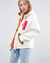 Love Moschino Patch Zips Hooded Jacket