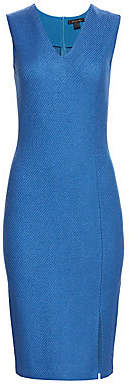 St. John Women's Sarga Stretch Wool V-Neck Sleeveless Sheath Dress