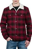 Volcom Men's Keaton Jacket With Faux Shearling Trim