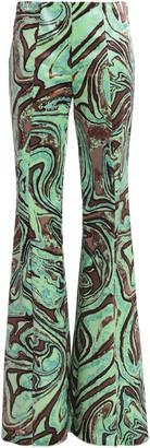 Emilio Pucci Printed Velvet Flared Pants