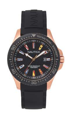 Nautica Unisex Adult Quartz Watch with Silicone Strap NAPJBC006