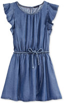 Tommy Hilfiger Braided Belt Denim Dress, Big Girls (7-16)