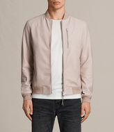 AllSaints Miko Leather Bomber Jacket
