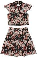 Miss Behave Floral Embroidered Top & Skirt Set