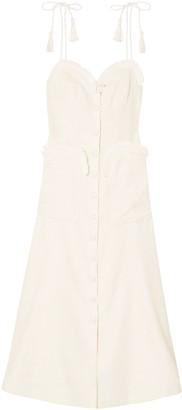 Alice McCall Girls On Film Raffia-trimmed Woven Midi Dress