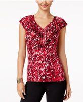 Thalia Sodi Ruffled V-Neck Top, Created for Macy's