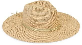 Hat Attack Essential Continental Metallic-Trim Raffia Panama Hat