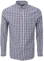Lacoste Long Sleeved Check Shirt Blue